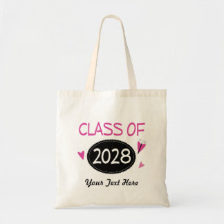 Class of 2028 Graduate Butterfly Tote Bag