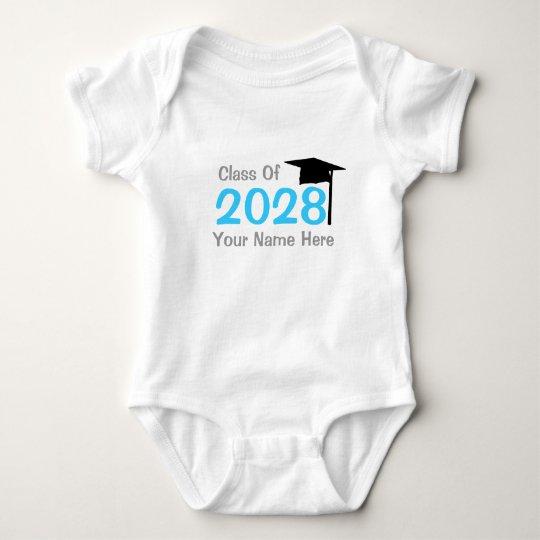 class of 2028 infant graduation baby bodysuit