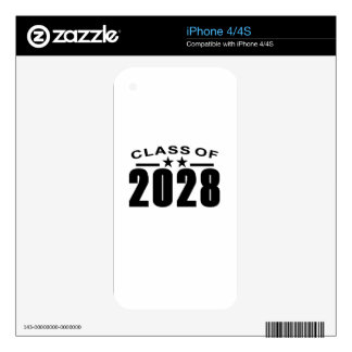 Class Of 2028 Shirts.png Decals For The iPhone 4