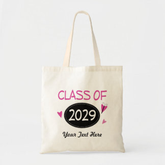 Class of 2029 Graduate Butterfly Tote Bag