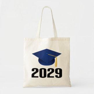 Class of 2029 Graduate Hat Gift Tote Bag