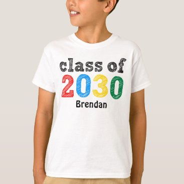 Toddler & Baby themed Class of 2030 Personalized T-Shirt