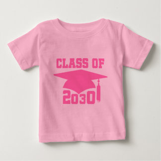 Class of 2030 Pink Grad Hat Baby T-Shirt