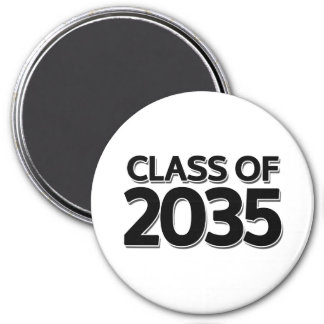 Class of 2035 3 inch round magnet