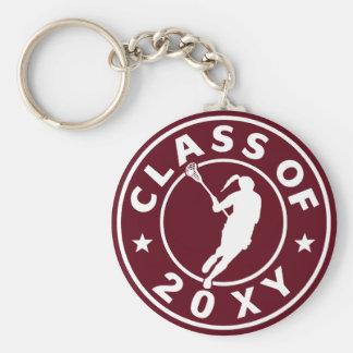 Class of 20?? Girl Lacrosse Keychain
