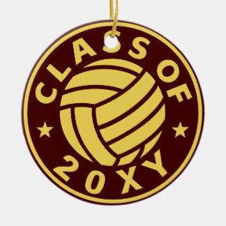 Class of 20?? Volleyball Double-Sided Ceramic Round Christmas Ornament