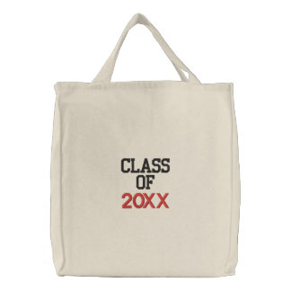 CLASS OF  20XX Custom Year Graduation Embroidered Bags