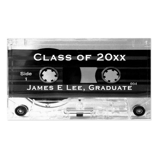 Class of 20xx Graduation Audio Cassette Tape Cards Double-Sided Standard Business Cards (Pack Of 100)