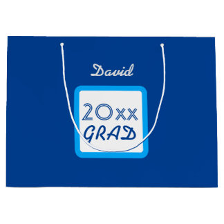 Class of 20xx or ANY YEAR RICHBLUE A09 Large Gift Bag