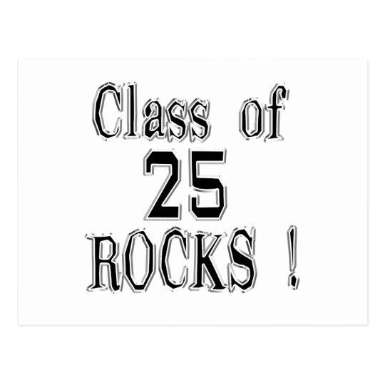 Class of '25 Rocks! Postcard