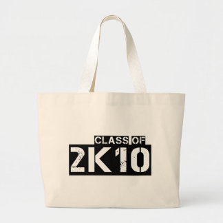 class of 2k10 (2010) large tote bag