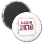 class of 2k16, class of 2016 refrigerator magnet