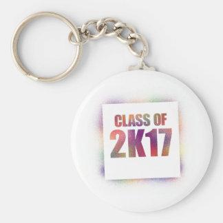 class of 2k17, class of 2017 keychain