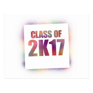 class of 2k17, class of 2017 postcard