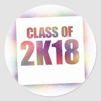 Class of 2k18 class of 2018 classic round sticker