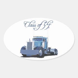 Class of '54 Trucker Apparel Oval Sticker