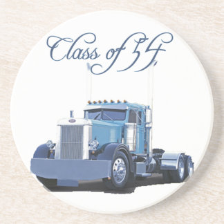 Class of '54 Trucker Apparel Sandstone Coaster