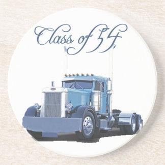 Class of '54 Trucker Apparel Sandstone Coaster