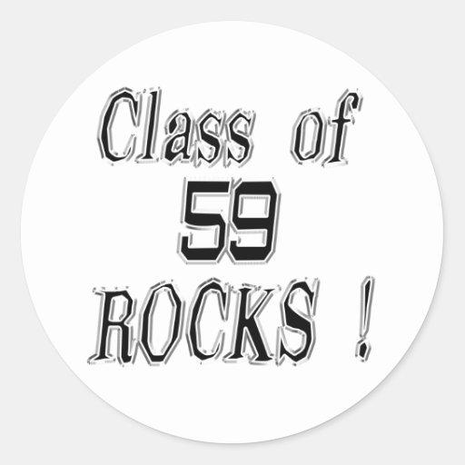 Class of '59 Rocks! Sticker