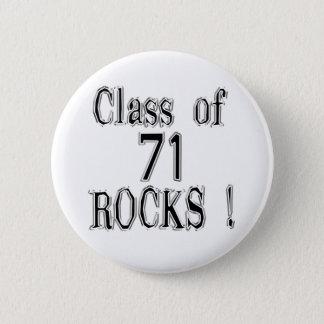 Class of '71 Rocks! Button