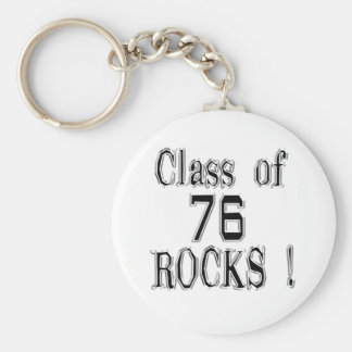 Class of '76 Rocks! Keychain