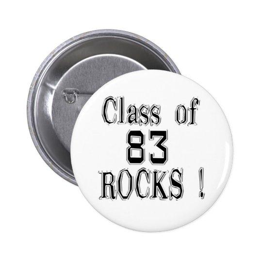 Class of '83 Rocks! Button