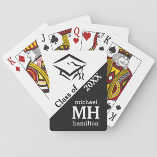 CLASS OF (any year) custom monogram playing cards
