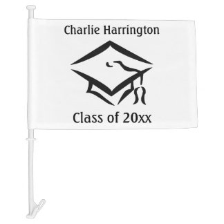 CLASS OF (any year) custom name & color car flag