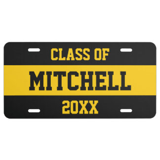 CLASS OF (any year) custom name license plate
