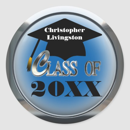 Class Of Any Year Graduation Stickers