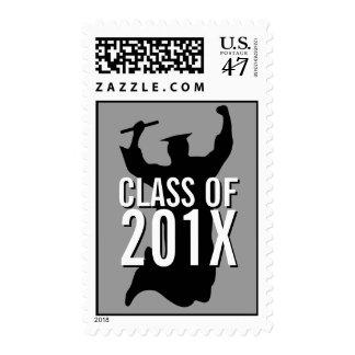 Class of Celebrating Graduate Black | White Stamp
