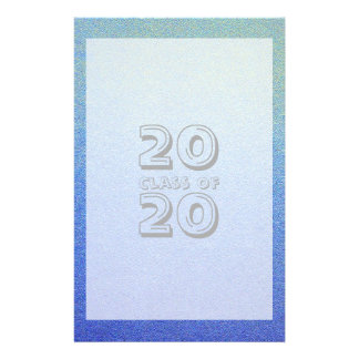 Class of Dazzling Blue Ombre Glitter Sand Look Stationery