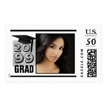 Class of... GRAD Black & Brushed Silver Photo Postage