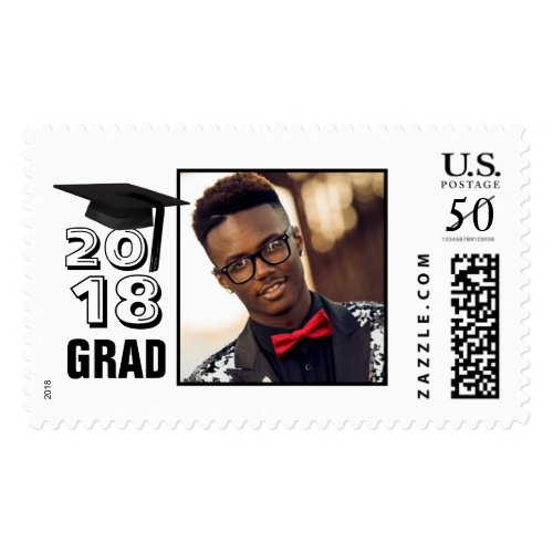 Class of... GRAD Cap Photo Postage