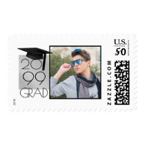 Class of   Grad Year   Black & Silver   Photo Postage