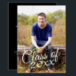 "Class of Graduation Photo Announcement Invitation<br><div class=""desc"">Add 2018,  2019 or any year to personalize this elegant and modern design. This can be used for any graduate - high school,  college,  grad school,  med school or even trade school.</div>"