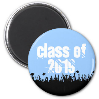 Class of Graduation You Choose Background color 2 Inch Round Magnet