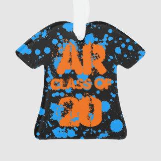Class of Graffiti Art Black Blue Splatter Paint Ornament