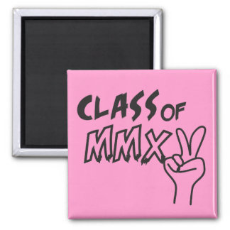 Class of MMXV 2015 Peace Sign 2 Inch Square Magnet