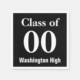 Class of Name of School and Year Any Color Paper Napkin