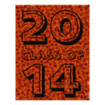 Class Of Orange and Maroon Star Team Spirit Colors Full Color Flyer