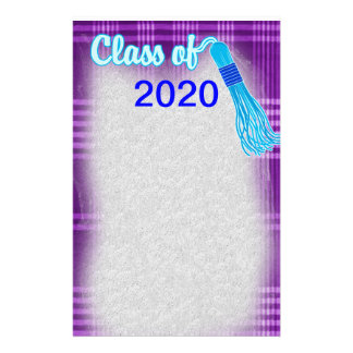 Class Of Plaid Graduation Set Stationery