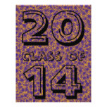 Class of Purple and Gold Star Team Spirit Colors Flyer Design