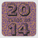 Class of Purple and Gold Star Team Spirit Colors Square Sticker