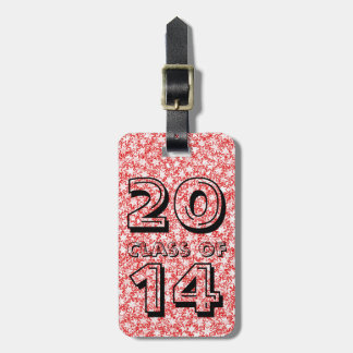 Class of Red and White Stars Team Spirit Sports Luggage Tag