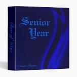 """Class Of "" Senior Graduation Blue Silk Binder"