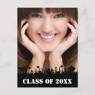 Class of Senior Graduation Open House Invitation zazzle_postcard
