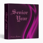 """Class Of "" Senior Graduation Pink Silk Binder"