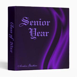 """Class Of "" Senior Graduation Purple Silk Binder"