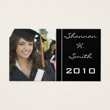 Professional Business Class of  Senior Graduation Resume Business Card